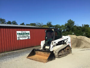 2013 Bobcat T550 Compact Track Skid Steer Loader W Cab Kubota Engine 2500hrs