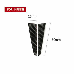 Carbon Fiber Steering Wheel Sticker Trim For Infiniti Q50 Q60 2014 2019