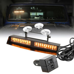 Led Emergency Strobe Dash Light 12ft Cable 25 Flash Patterns Available Red White