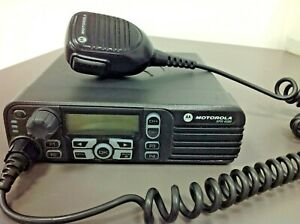 Motorola Xpr 4580 Model Aam27umh9lb1an 800 900 Mhz With Mic Mount Power
