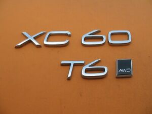 10 11 12 13 14 15 16 17 18 19 20 Volvo Xc60 T6 Awd Emblem Logo Badge Sign A8404