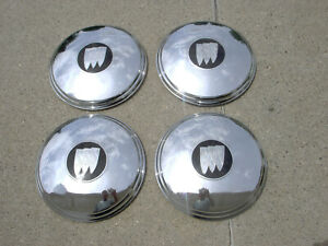 Vintage Oem Buick Dogdish Hubcaps Wheel Covers Center Caps