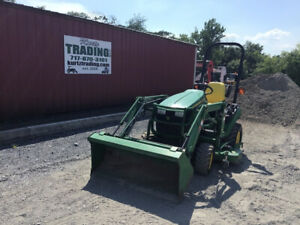2016 John Deere 1026r 4x4 Hydro Compact Tractor W Loader 60 Mower Only 600hr