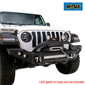 Eag Heavy Duty Front Bumper With Led Light Bar Fit For 2020 Jeep Jt Gladiator