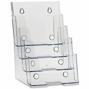 Clear Acrylic 4 tier Brochure Holder For 6 quotw X 9 quoth Half page Material