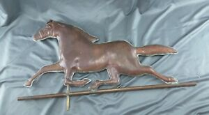 Large Vintage Primitive Copper Horse Weather Vane Topper Folk Art Metalware