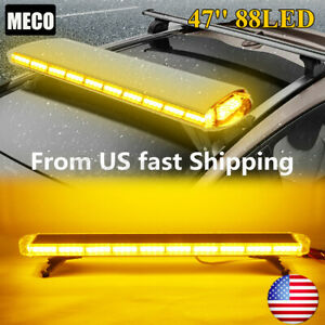47 88 Led Strobe Light Bar Flash Warn Beacon Tow Truck Response 88w Roof Top Us