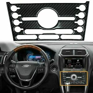 Carbon Fiber Car Inner Center Console Cd Panel Trim For Ford Explorer 2013 2019