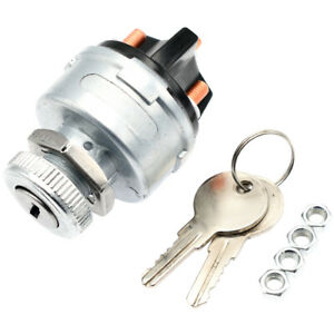 Ignition Key Starter Switch With 2 Keys Universal For Car Tractor Trailer Truck