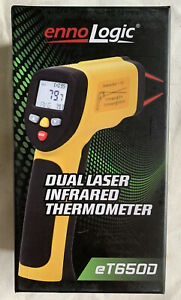 Ennologic Temperature Gun Dual Laser Non contact Infrared Thermometer