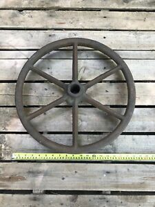Antique Metal Wheel Cast Iron 18 Inch Decor Replacement Cart Wagon Steam Punk