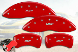 2017 2019 Jaguar Xe Front Rear Red Mgp Brake Disc Caliper Covers 4pc Set