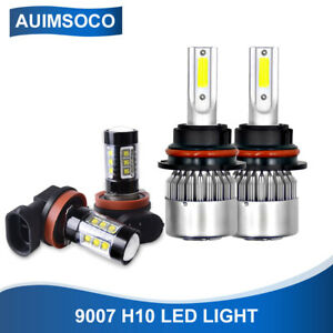 9007 9145 Combo Led Bulbs Headlight Fog Lights 8000k For Ford F 150 1999 2003