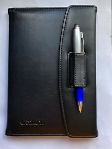 Small Canon Black Leather Portfolio Folder Sz 6 x 8 5 New