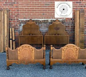 Set Twin Beds Antique Victorian French Provincial Bedroom Single Bed Will Ship