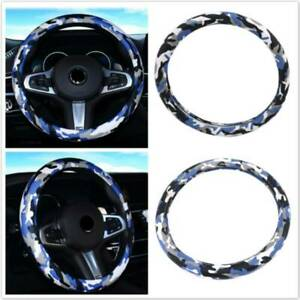 Universal Blue Camouflage Auto Car Steering Wheel Cover Protector Non slip Sh