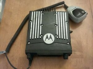 Motorola Xtl 2500 P25 Mobile Radio Model M21urm9pw1an 800 Mhz Used W Palm Mic