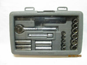 Craftsman 34801 19pc 1 4 Metric Socket Wrench Set In Case 6pt Made In The Usa