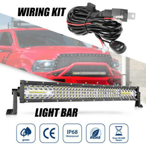 Wiring Kit 20inch Led Work Light Bar Spot Flood Beam 6000k Driving Off Road 4wd