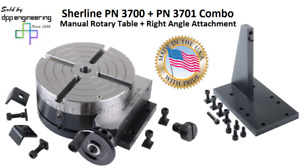 Sherline Pn 3700 Pn 3701 Manual Rotary Table Right Angle Attachment Combo