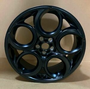 Nos 2016 2020 Alfa Romeo 4c 18 Matte Black Alloy Wheel 68261628aa