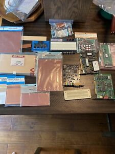 Vintage Lot Of Electronic Components Perfboard Breadboard Radio Shack Archer
