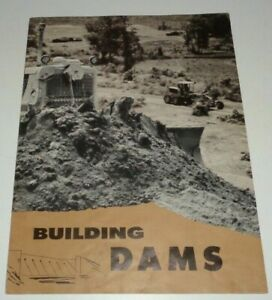 Caterpillar building Dams Sales Brochure Original Cat Crawler Grader Scraper