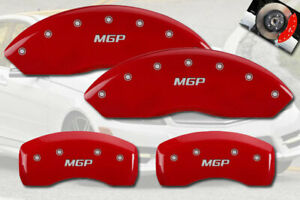 2010 2014 Mercedes Benz C250 Front Rear Red Mgp Brake Disc Caliper Covers 4pc