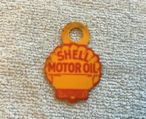 Nos Shell Oil Service Reminder Tag Vintage Gas Station Lubrication Tab Promo