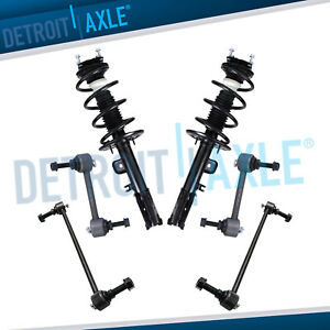 2x Front Struts Coil Spring Assembly 4x Sway Bar For 2011 2012 Ford Explorer
