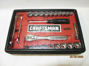 Craftsman 9_33429 29pc 3 8 Drive Mechanics Tool Set Inch metric Made In The Usa