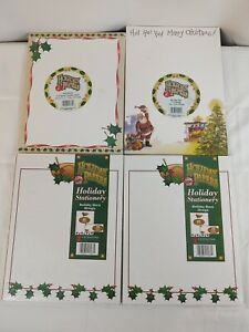 Vtg Z Grafix Lot 4 Sealed Packs Holiday Papers Stationary Envelopes Santa Xmas