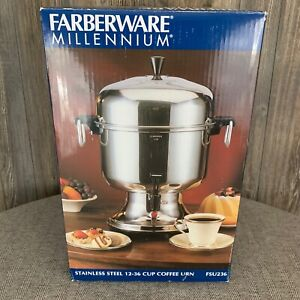 New Farberware Millennium Coffee Urn 12 36 Cup Stainless Steel Electric fsu236