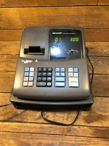 Sharp Electronic Cash Register Model Xe a106 Retail Missing Drawer And Key