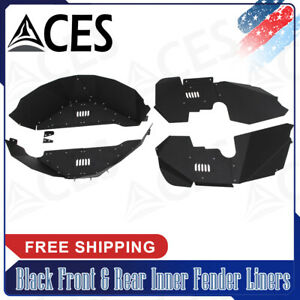 Black Front Rear Inner Fender Liners For 07 17 Jeep Wrangler Jk Jku 4wd New