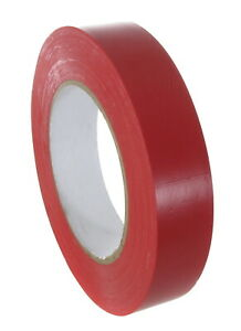 Red Colored Vinyl Tape 1in X 36 Yards Full Case Of 36 Rolls
