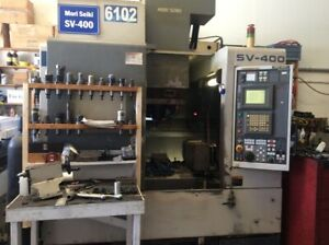 Mori Seiki Sv400 Vertical Machining Center With 4th Axis Renishaw Probe