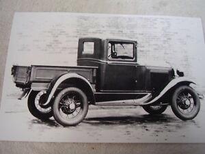 1930 1931 Ford Model A Pick Up Steel Cab 3 11 X 17 Photo Picture