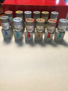 12 Brand New Gc Initial Mc Porcelain All Shades Set