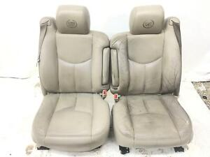 2003 2006 Cadillac Escalade Front Leather Seat Set Shale 152 Oem