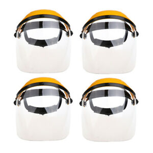4piece Protective Welding Safety Face Shields Head Mounted Polycarbonate Helmets