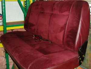 Red Rear Seat From 1989 Dodge Ram Charger Fits 83 93 In Good Condition