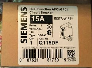 Lot Of 10 X Siemens Q115df Dual Function Afci gfci Breaker 15a New