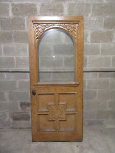 Beautiful Antique Carved Victorian Door 34 X 81 Architectural Salvage