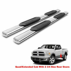 5 Side Step Nerf Bars Running Boards For 09 18 Dodge Ram 1500 Quad extended Cab