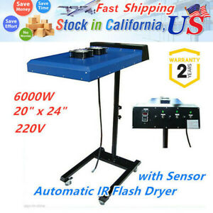 6000w 220v 20 X 24 Automatic Ir Flash Dryer With Sensor For Screen Printing