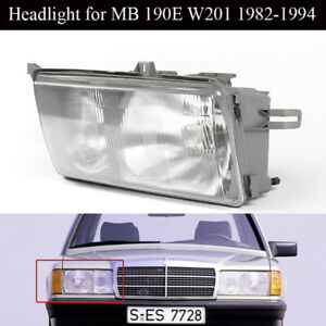 Headlights W Fog For Mercedes Benz W201 190e 190d Euro Glass Right Side 1984 94