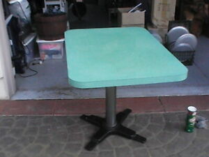Vintage 1950s Formica Restaurant Tables 4 Of Them 30 x42 3 Bases 1 Is 3ft X3