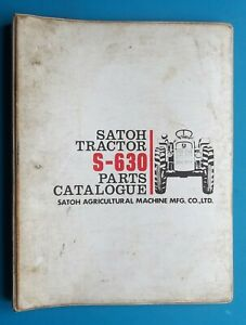 1980 Satoh Tractor S 630 Parts Catalog Agricultural Mitsubishi 212 Pages Vintage