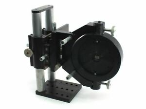 Newport 760 Laser Diode Stand With Photometrics Ch220 And Starrett Micrometers